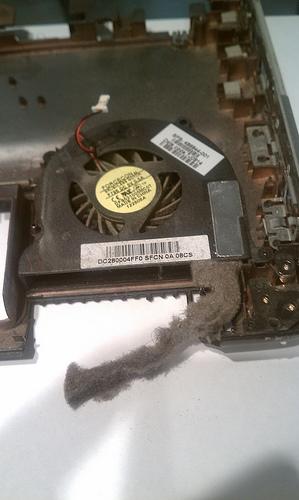 HP DV4 laptop fan dust