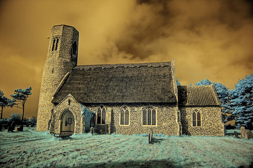 Infrared All Saints church Edingthorpe Norfolk