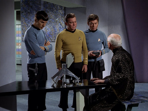 Leonard Nimoy, William Shatner, DeForest Kelley, Ian Wolfe, Star Trek TOS,