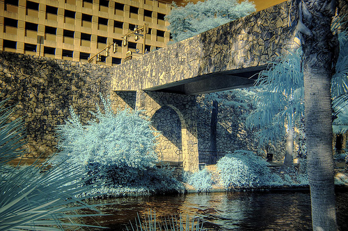HDR Infrared San Antonio Texas River Walk