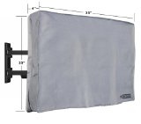 Review InCover 32″ Outdoor TV Cover – Water and Dust Resistant – Fits over most TV Mounts and Stands – Built-in pocket for TV Remote