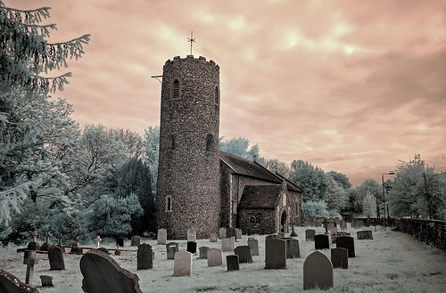 Infrared HDR Church of St Andrew, Colney, Norfolk