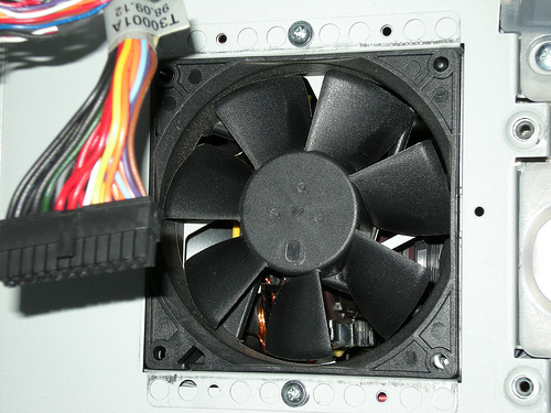 Cooling fan on a barely used, original iMac