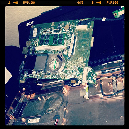 Guess my mini finally decided to kick the dust. #sad #computer #geeky #igers #igdaily
