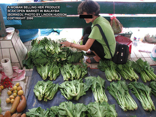 OPEN PRODUCE MARKET IN BORNEO