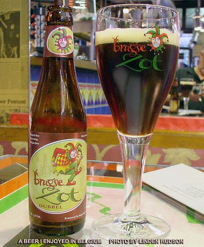 BRUGSE ZOT DUBBEL BEER - IN BELGIUM