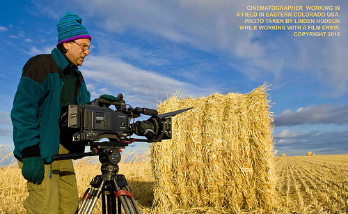 CINEMATOGRAPHER IN A FIELD - EASTERN COLORADO