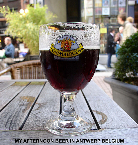 A BEER IN ANTWERP BELGIUM