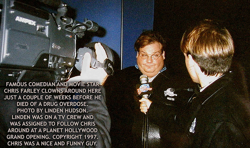 CHRIS FARLEY - COMEDIAN AND MOVIE STAR