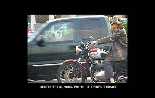 COOL MOTORCYCLE GUY ON AUSTIN STREET