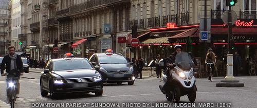 DOWNTOWN PARIS - SUNDOWN