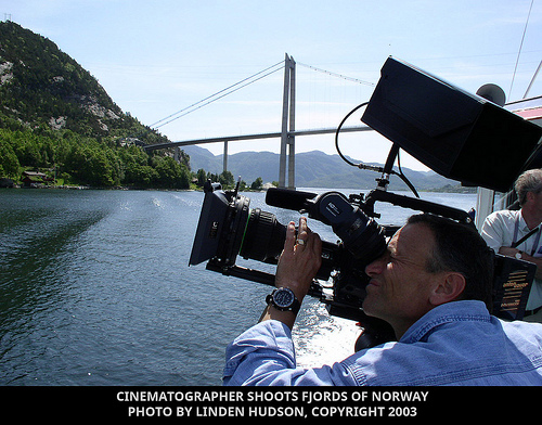 CINE PHOTOGRAPHER SHOOTS NORWAY FJORDS