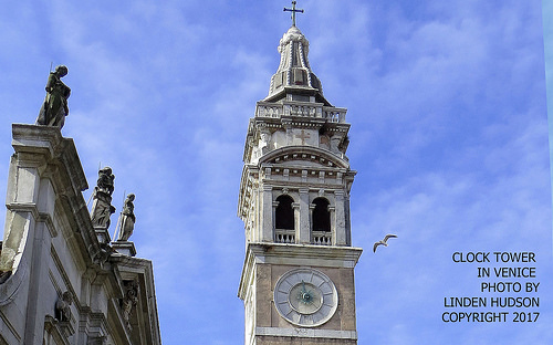 CLOCK TOWER IN VENICE ITALY