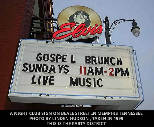 MEMPHIS NIGHT CLUB SIGN