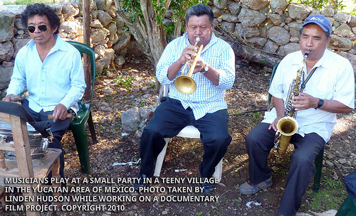 MUSICIANS - PARTY IN SMALL VILLAGE - MEXICO