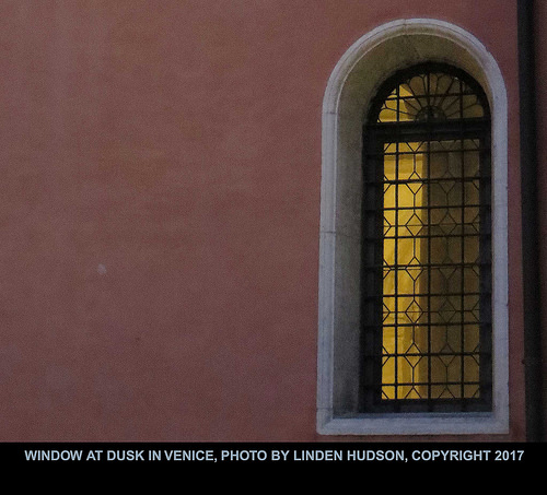 VENICE WINDOW AT DUSK