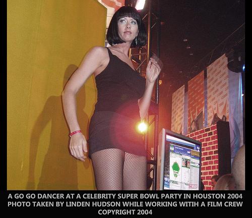 GO GO DANCER AT SUPER BOWL PARTY