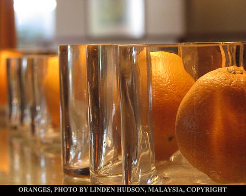 Oranges Through Glass