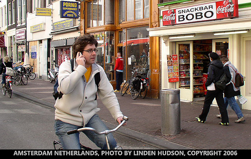 AMSTERDAM STREET - BICYCLE PEOPLE