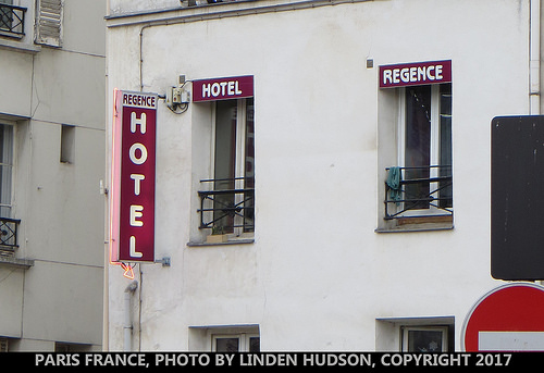 PARIS HOTEL SIGN - WINDOWS