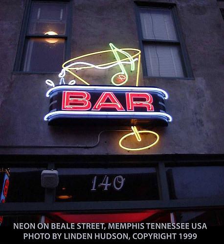 NEON ON BEALE STREET, MEMPHIS