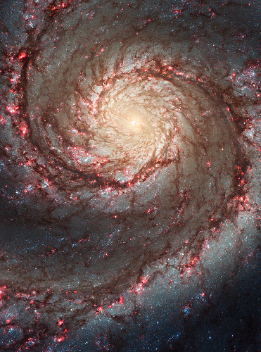 Closeup of the Whirlpool Galaxy, Messier 51
