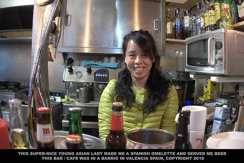 NICE ASIAN LADY - BARTENDER