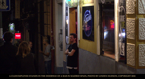 BAR WORKER IN DOORWAY - MADRID