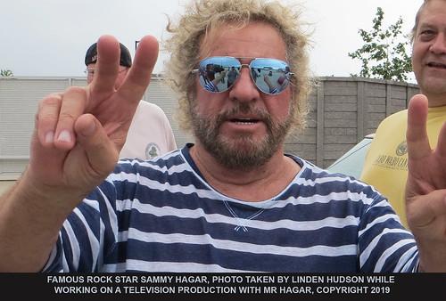 FAMOUS ROCK STAR SAMMY HAGAR - CANDID
