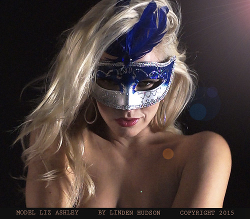 MODEL LIZ ASHLEY IN  MASK