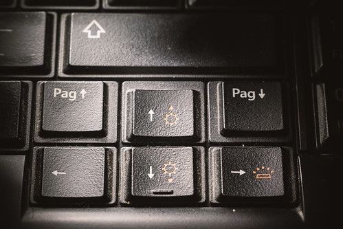 Dirty Black Keyboard Buttons