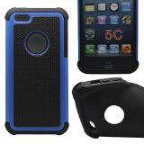 New Product Cocoz® New Releases Blue /Black Hard Soft High Impact Armor Case Combo Cover for Apple Iphone 5c At & T Verizon Sprint Dust Stylus (Orange/black Pc + Silicone)-r001 Best Seller