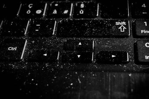 dust on keyboard