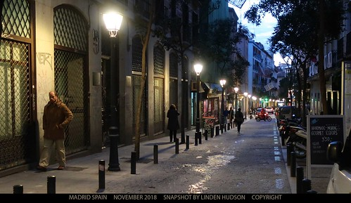 MADRID STREET AT SUNDOWN