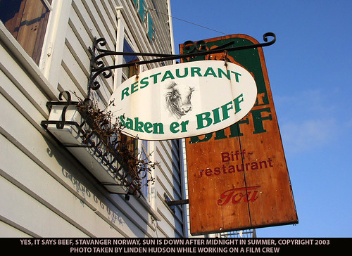 BEEF EATERY SIGN - STAVANGER NORWAY - BIFF