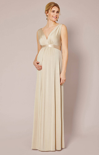 Is Gold Maternity Dress The Most Trending Thing Now? | Gold Maternity Dress