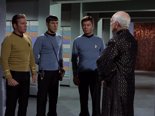 William Shatner, Leonard Nimoy, DeForest Kelley, Ian Wolfe, Star Trek TOS,